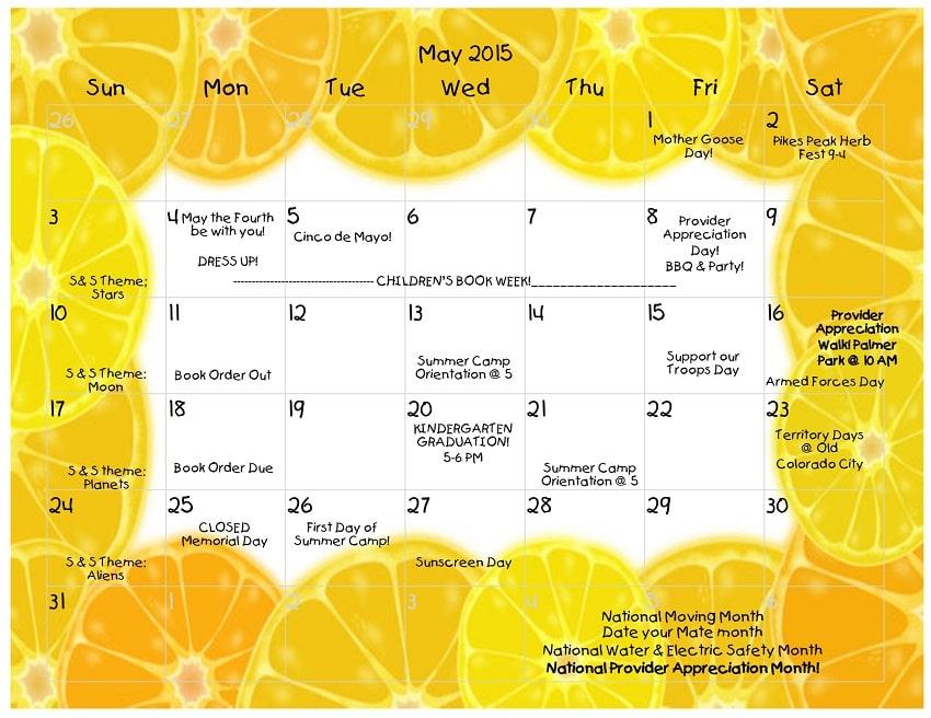 Young Scholars Academy Calendar 05-2015