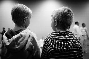 children in a preschool classroom