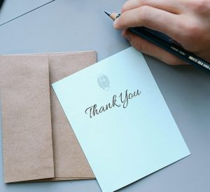 a thank you note