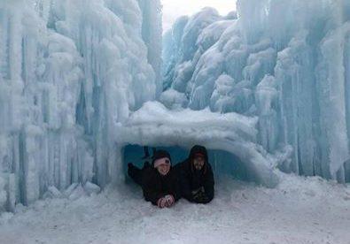 Under ice in winter