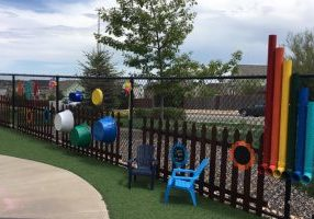 Renovated playgrounds at Young Scholars Academy