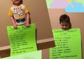 Little boy with summer bucket list